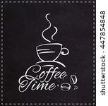 coffee time   logo lettering ... | Shutterstock .eps vector #447854848