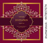 wedding invitation or card with ... | Shutterstock .eps vector #447857074