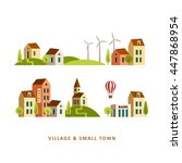 village. small town. rural and... | Shutterstock .eps vector #447868954