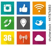 icons for social networking... | Shutterstock .eps vector #447876883