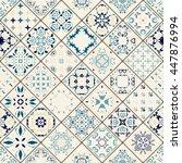 luxury oriental tile seamless... | Shutterstock .eps vector #447876994