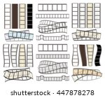 set of empty film strips on... | Shutterstock .eps vector #447878278