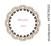 decorative flower frame....   Shutterstock .eps vector #447879010