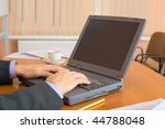 the business people working on... | Shutterstock . vector #44788048