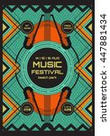vector music poster template.... | Shutterstock .eps vector #447881434