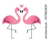 Flamingo Couple In Love