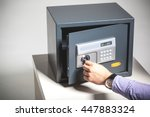 hand opened a safe  close up | Shutterstock . vector #447883324