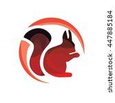 squirrel vector logotype.... | Shutterstock .eps vector #447885184