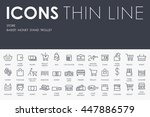store thin line icons | Shutterstock .eps vector #447886579
