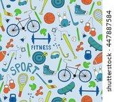 vector seamless pattern. hand... | Shutterstock .eps vector #447887584