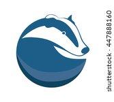badger vector logotype.  badger ... | Shutterstock .eps vector #447888160