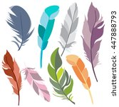 vector isolated colorful... | Shutterstock .eps vector #447888793