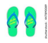green and blue summer flip... | Shutterstock .eps vector #447890089