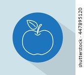 line icon  apple   Shutterstock .eps vector #447895120
