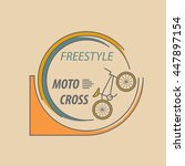 bicycle thin line design logo... | Shutterstock .eps vector #447897154