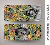cartoon colorful line art... | Shutterstock .eps vector #447904216