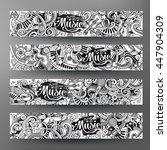 cartoon line art vector hand...   Shutterstock .eps vector #447904309