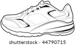 Tennis Shoe Isolated On A White ...