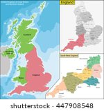 map of england | Shutterstock .eps vector #447908548