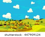 cartoon scene of the historical ... | Shutterstock . vector #447909124