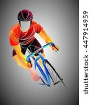 cyclist  cycling  cyclist... | Shutterstock .eps vector #447914959