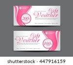 pink gift voucher template... | Shutterstock .eps vector #447916159