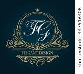 template monogram  monogram... | Shutterstock .eps vector #447916408