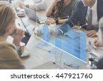 analysis analytics business... | Shutterstock . vector #447921760