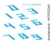 collection of isometric numbers.... | Shutterstock .eps vector #447922264