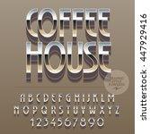 set of slim reflective alphabet ...   Shutterstock .eps vector #447929416