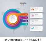 Infographic design vector and marketing icons can be used for workflow layout, diagram, annual report, web design. Business concept with 4 options, steps or processes. | Shutterstock vector #447930754