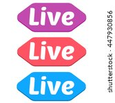 collection of live banner for... | Shutterstock .eps vector #447930856