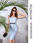 beautiful sexy woman wear... | Shutterstock . vector #447940720