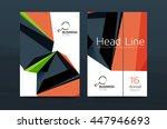 3d geometric shapes design a4... | Shutterstock .eps vector #447946693