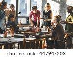 african descent brainstorming... | Shutterstock . vector #447947203