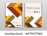 business annual report brochure ... | Shutterstock .eps vector #447947560