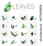 futuristic design eco leaf... | Shutterstock .eps vector #447949804