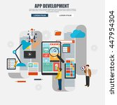 flat design of app development...