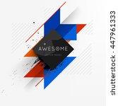 geometric vector background.... | Shutterstock .eps vector #447961333