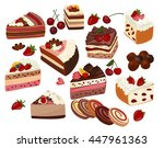 set of colorful and realistic... | Shutterstock .eps vector #447961363
