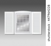 realistic transparent window.... | Shutterstock .eps vector #447964228