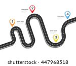 road way location infographic... | Shutterstock . vector #447968518