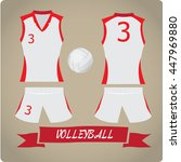 volleyball objects  sport... | Shutterstock .eps vector #447969880