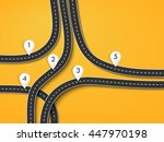 road trip and journey route.... | Shutterstock . vector #447970198