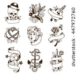 Old School Tattoo Elements...