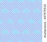 seamless cloud pattern.   cute... | Shutterstock .eps vector #447979510