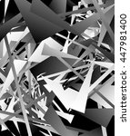 geometric abstract art. edgy ... | Shutterstock . vector #447981400