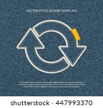 vector rounded arrows icon....