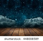 background night sky with stars ... | Shutterstock . vector #448008589