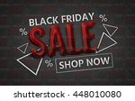 black friday sale promotion... | Shutterstock . vector #448010080